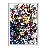 Rompecabezas Demon Slayer 120 Piezas Kimetsu no Yaiba Puzzle Anime Manga Decoración para el Hogar DIY Rompecabezas de Alta Definición Niños Adultos Anime Fans Regalo, con Marco