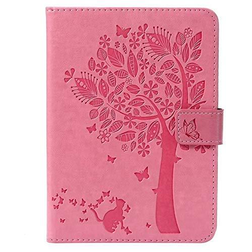 QiuKui Tab Funda For Amazon Kindle Paperwhite 4 2018 10a Generación, Diseño del árbol del Gato Cubierta del Caso for Paperwhite 1 2 3 4, Case + Film + Pen 6 Pulgadas (Color : Pink)