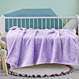 Exclusivo Meacla Waffle Tetured Soft Fleece Baby Blanket,Swaddle Blanket(Lilac Purple,30X40 inches)-Cozy Warm and Lightweight