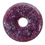 Lebensquelle Plus, ciondolo a forma di ciambella in lepidolite, diametro 40 mm