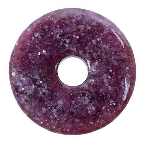 Lebensquelle Plus Lepidolith Edelstein Donut Ø 40 mm Anhänger