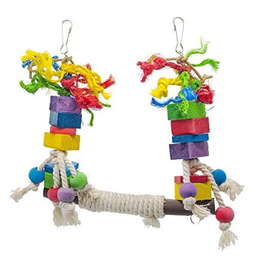 WYHM Juguetes De Aves Loro Colorido Columpio Que Sube el Juguete del pájaro del pájaro de la Pieza del Entrenamiento de la Escalada de la Madera de la Escalada (Color : A)