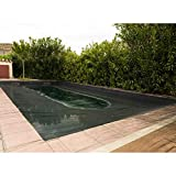 Werkapro - Red de protección para Piscina Rectangular (6 x 12 m), Color Negro