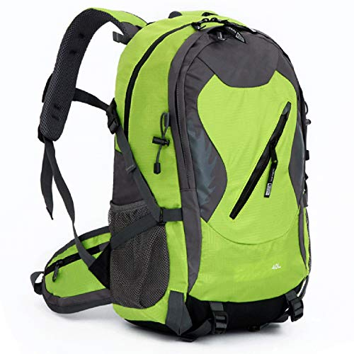 ZJML Travel Mountaineering Backpack 40L, Sports Waterproof Daypack with Survival Whistle, Men And Women Hiking, Climbing, Camping, Cycling Backpack