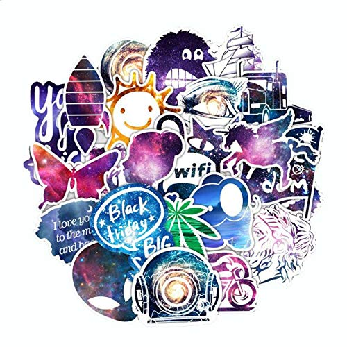 TUHAO Astrology Shining Starry Sky Personality Trolley Guitar Skateboard Cartoon Graffiti Sticker Decoration Wholesale 50Pcs