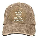 YINREN Funny Don't Mess with Honey Badger Unisex Baseball Hat Cowboy Cap Sun Hats Trucker Hats Natural Caps