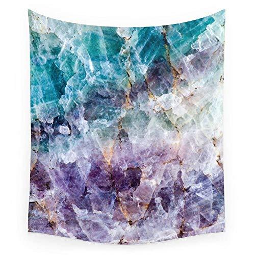 Tapiz de pared de cristal de cuarzo turquesa y púrpura dormitorio decoración de la sala de estar colgante de pared 150x200cm