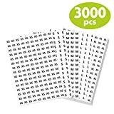 3000 PCs 3/4' Clothing Size Round Sticker Labels in 5 Sizes (XS, S, M, L, XL)