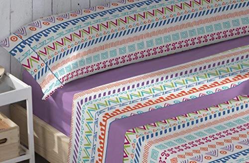 Energy Colors Textil Hogar - Junior - Cama 90 Juego Sábanas 3 Piezas 50% Algodón y Otras Fibras (Skate Red)