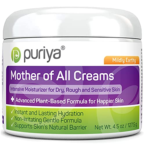 National Eczema Association Accepted Cream, Fast Acting for Dry Itchy and Sensitive Skin, Physician Approved, No Hydrocortisone, Safe for Kids and Adults, Plant Based Mother of All Creams by Puriya