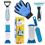 PetHaven Pet Hair Remover Glove & Self Cleaning Fur Remover Lint Remover Brush Bundle- Dog Brush and Cat Brush for Shedding & Undercoat Grooming Bundle,Long Short Pet Hair and Pet Hair Remover for Car