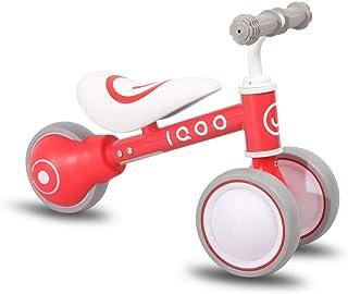 IQOO ペダルなし自転車 子供 幼児用 3輪 1、2、3歳 軽量 室内 ノーパンクタイヤ バランス 出産祝い 誕生日プレゼント レッド ピンク ブルー