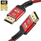 DisplayPort Cable,Capshi 4K DP Cable Nylon Braided -(4K@144Hz, 4K@60Hz,...