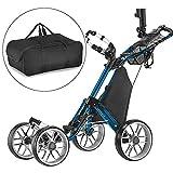 CaddyTek klick-klappbar, 4 Rad Version 3 Golf Push cart-Dark grau mit Aufbewahrungstasche -