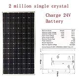 ZSPSHOP Tablero De Energía Solar 25w ~ 200W Panel Solar Placa De Carga Fotovoltaica para El Hogar,200W