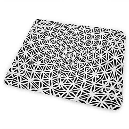 RomaniaGH Black Psychedelic Kaleidoscope Almohadilla para Cambiar pañales Impermeable para Cambiar pañales para bebés Que salen de Viaje