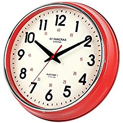 YAVIS Wall Clock Countryside Style Metal Wall Clock Retro Vintage Wall Clock Non Ticking Silent Easy to Read for Living Room/Kitchen/Bedroom/Office -12.4 INCH