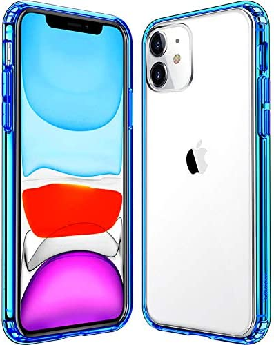Mkeke Compatible with iPhone 11 Case Clear Cover for 6 1 Inch Blue product image