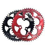 LOYFUN Bicicleta de Catalina, Bicicleta Doble Plato Ovalado 110BCD Chainwheel for Bicicleta de Carretera, Bicicleta de montaña, BMX MTB (Color : Red, Size : 110BCD 50T/35T)