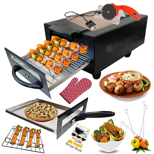 Hot Berg Big Electronic Tandoor with Full Accessories (16 Inches, Black)
