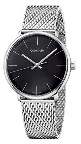 Calvin Klein Herren Analog Quarz Uhr mit Edelstahl Armband K8M21121