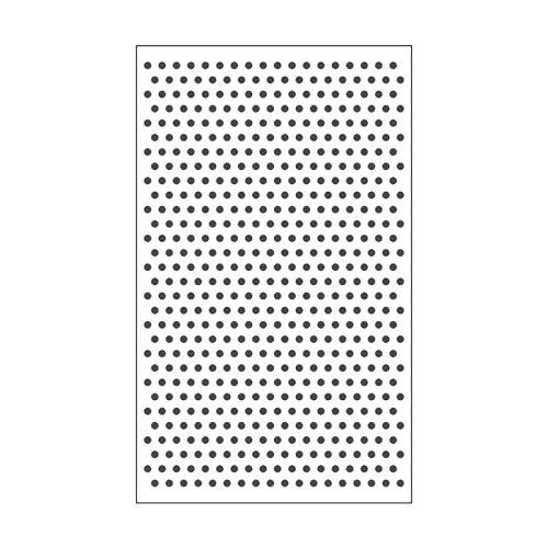 Vaessen Creative Mini Carpeta de Embossing, Lunares, para Agregar Textura y Dimensión a Páginas de Scrapbook, Tarjetas y Otras Manualidades de Papel, 7,6 x 12,7 cm