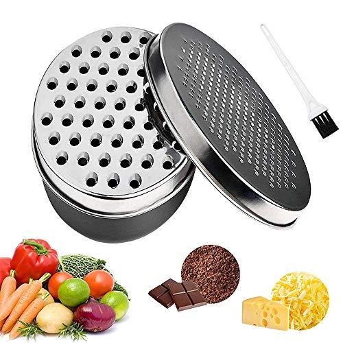 Käsereibe mit Behälter, Reibe für die Küche mit 2 Größen, Käsezerkleinerer, Gemüsezerkleinerer, Ingwer-Schredder, Schokoladenreibe
