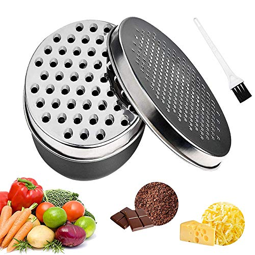 Cheese Grater with Container, Graters for Kitchen with 2 Size Lid,Cheese Shredder,Vegetable Chopper,Ginger Shredder,Chocolate Grater