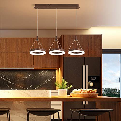 HDJLI Iluminación Moderna De La Lámpara LED Vogue De Personalidad Creativa Lámparas Marrones Fácil De Instalar Se Puede Usar Luz Blanca Cocina Sala De Estar Dormitorio Pasillo
