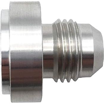 NPT 3//4/'/' Plug Car Aluminum Bung Fuel Hose Pipe Oil Fittings Adapter