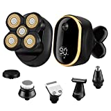 Roziapro Electric Razor for Men 6 in1 Bald Head Shaver LED Display Mens