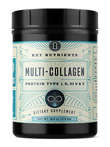 Multi Collagen Protein Powder, Keto Friendly: Types I, II, III, V & X, with Grass-Fed Beef, Chicken, Wild Fish and Eggshell Collagen Peptides, Collagen Hydrolysate, Col