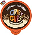 Crazy Cups Flavored Coffee Pods, Chocolate Glazed Donut, Flavored SIngle Serve Coffee Capsules for all Keurig K Cups Coffee Makers, 22 Count