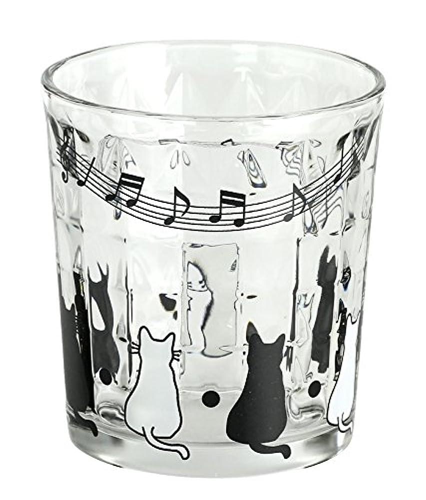 混雑さびた付録にゃん屋 親子猫 ガラス ロックグラス 13205