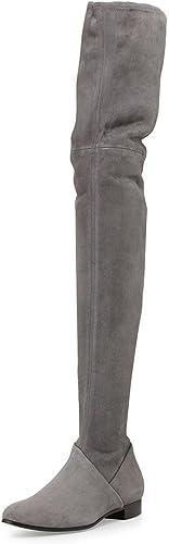 Elegant high high high chaussures Bottes de Femmes Hiver Printemps Leatherette Bottes de Mode pour Le Bureau de Mariage et Carrière Noir 287