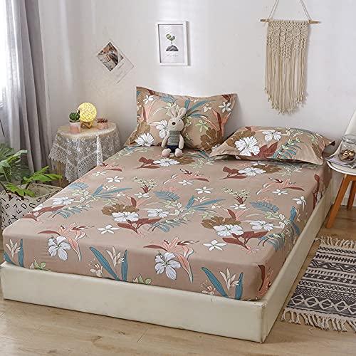 Kseyic Sábana bajera ajustable 100% microfibra, con estampado de dibujos animados, para cama con somier, altura hasta 30 cm, protector de colchón para cama (5,150 x 200 cm)