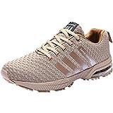 Wealsex Zapatos para Correr En Montaña Asfalto Aire Libre Deportes Zapatillas De Running para Hombre Cojín de Aire Camo Estilo Zapatos Casuales