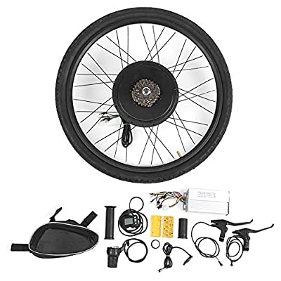 Bike Conversion Kit, 48V 1000W 26in Wheels Electric Bicycle E‑Bike Rear Wheel Motor Conversion Adapter Set for Touring Bikes, Commuter Bikes and Mountain Bikes