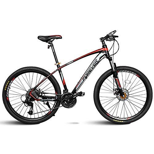 Mountain Bike da Donna E da Uomo, Telaio in Acciaio al Carbonio, Ruote da 26 Pollici, Bicicletta A Doppia Sospensione, Freno A Disco in Acciaio, 30 velocità,Rosso,A