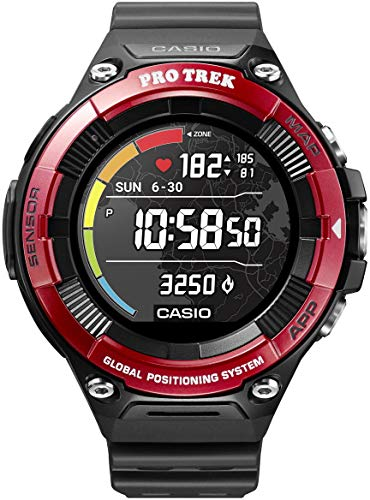 Casio Pro Trek Smart Orologio Digitale Smartwatch Unisex con Cinturino in Resina WSD-F21HR-RDBGE
