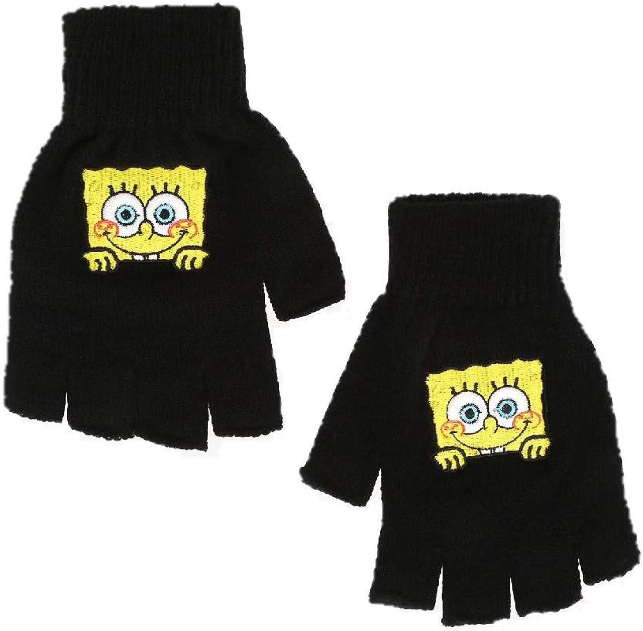 SpongeBob SquarePants Peekaboo Fingerless Gloves