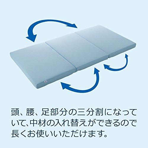 エアウィーヴマットレススマートZシングル三つ折りブルー厚さ9cm1-151011-1