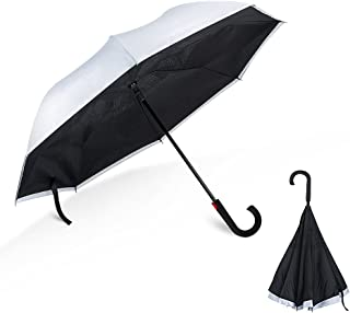 HSOMiD Double Layer Inverted Umbrellas Folding Umbrella Windproof UV Protection