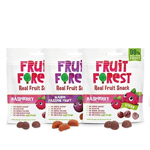 Real Fruit Gummy Combo Pack of 3, 100% Naturally Sweet...