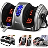 TISSCARE Foot Massager-Shiatsu Foot Massage Machine w/ Heat & Remote 5-in-1 Reflexology System-Kneading, Rolling, Scraping for Calf-Leg-Ankle Plantar Fasciitis, Blood Circulation, Pain Relief