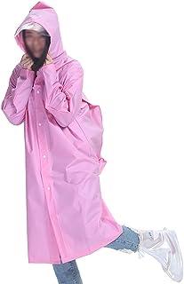 レインコート EVAシングル透明ビッグハットレインコート大人ハイキング防水ユニセックス屋外ロング厚いポンチョバッグ位置付き(オプションのM-XLコード) 成人用レインコート (色 : ピンク, サイズ さいず : L l)