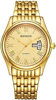 BINLUN 18K Gold Plated Automatic Wrist Watches for Men Luxury Men's Dress Watch