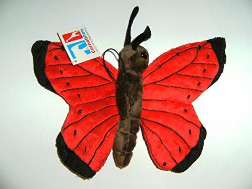 Plüschtier Schmetterling 24cm rot, Schmetterlinge Kuscheltiere Stofftiere Falter Tiere