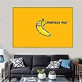 Unbekannt Leinwand Malerei Humor Banana Poster und Drucke