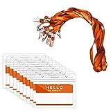 Zalava - Soportes para tarjetas de identificación con cordón, 40 unidades, para oficina y...